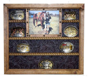 Buckle Display Picture Frame Combo