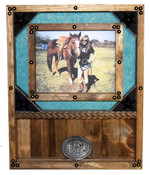 8x10 Picture Frame and Buckle Display - Many Backgrounds