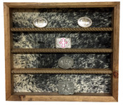 20 Buckle Display with Cowhide Back - No Stars