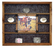 Reclaimed White oak buckle display
