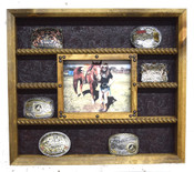14 Buckle display with 8x10 picture frame and no stars
