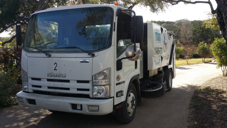 image: Fleet Dashcam Case Study: San Antonio Sweeping Service | One of the Trucks in the Fleet of 9 vehicles | The Dashcam Store Blog