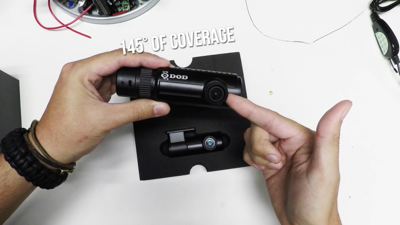 Unboxing the DOD Dashcam RC500S: the best night vision dash cam for front and rear