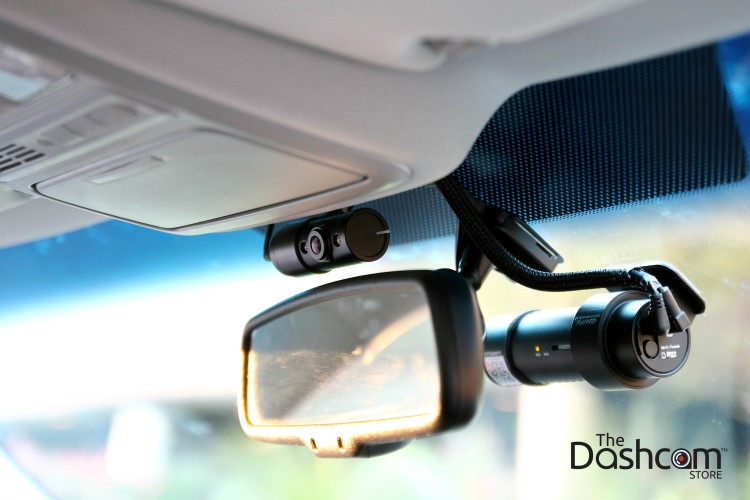 BlackVue DR7650S-2CH-IR installed on windshield with custom offset bracket designed by The Dashcam Store