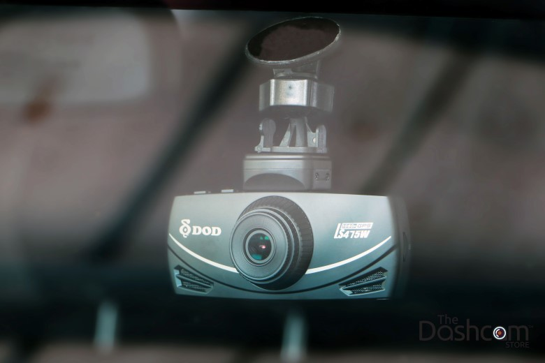 The DOD Tech LS475W with superior night vision installed in car| The Dashcam Store Blog