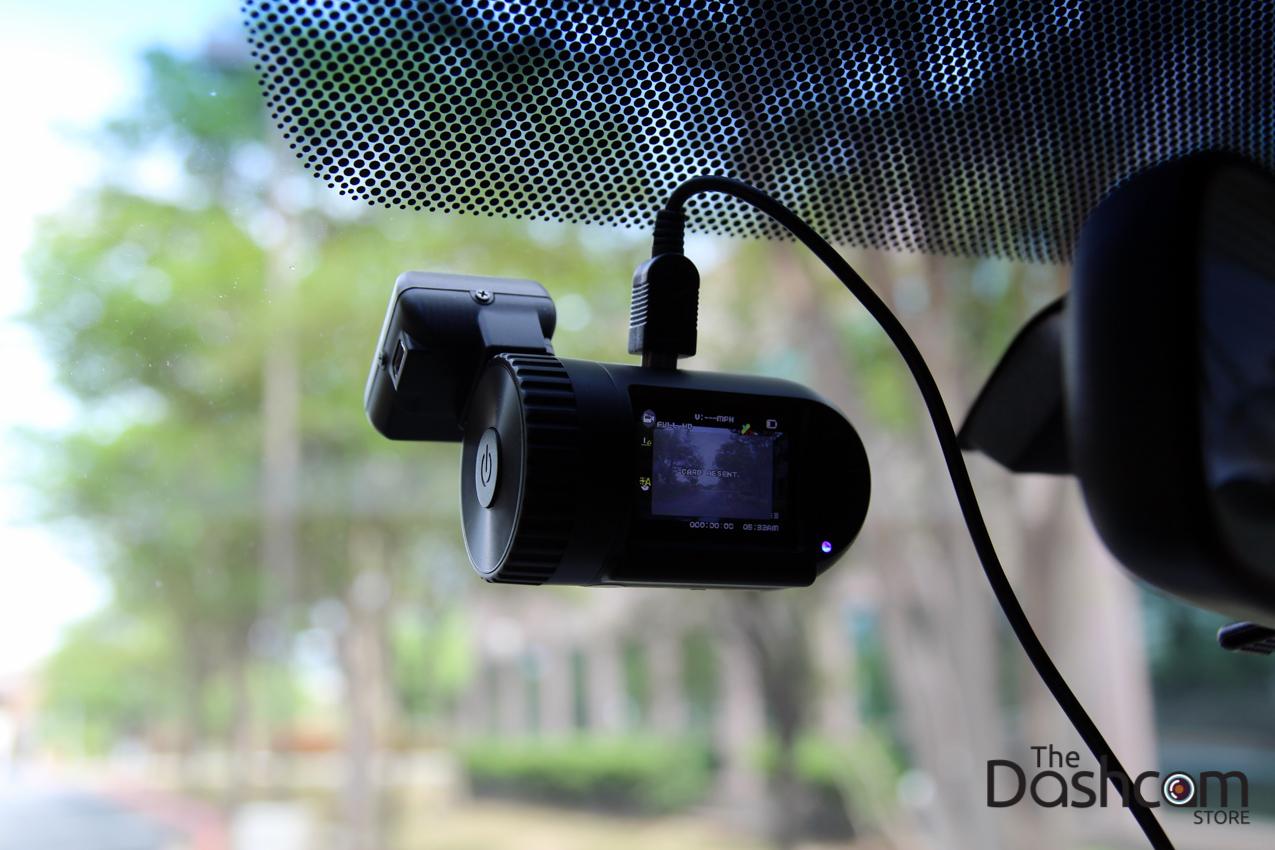 Mini0801 dash cam installed in car