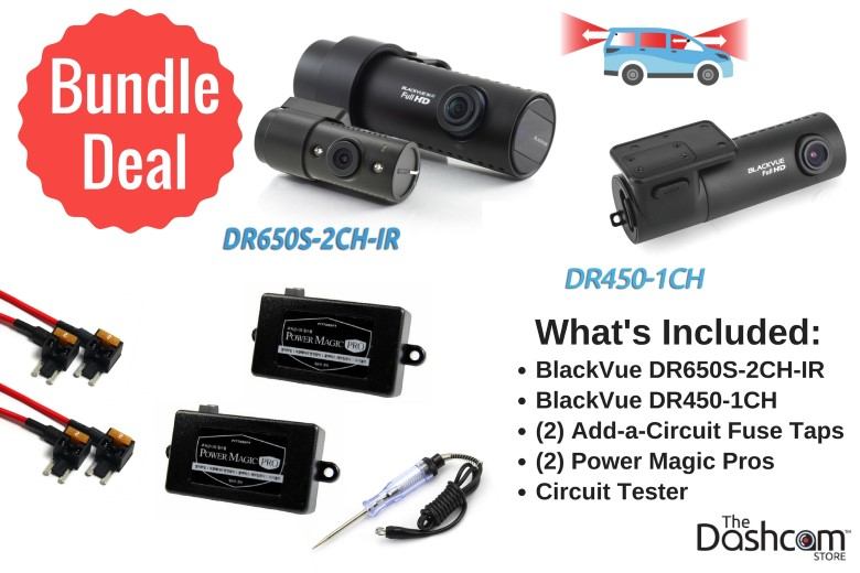 image: The best dashcam for Uber/Lyft/Fasten/Wingz/rideshare drivers is the ultimate 3-channel setup: BlackVue DR650S-2CH-IR front and interior dashcam and DR450-1CH with Power Magic Pro | The Dashcam Store Blog