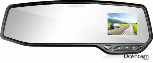 new papago gosafe 268 hidden rear view mirror style 1080p. Black Bedroom Furniture Sets. Home Design Ideas