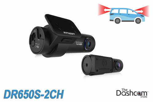 BlackVue DR650S-2CH 1080p Full HD dual-lens cloud-capable dash cam with GPS, WiFi, motion detection | For Front and Rear Recording
