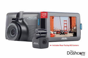 Magellan MiVue 480D Two-Channel (Dual Lens) Dash Cam for Front and Rear Recording