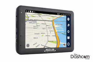 Magellan RoadMate 6620-LM GPS Navigation plus 1080p Video Dashcam All-in-one Combo | Screen side showing map view