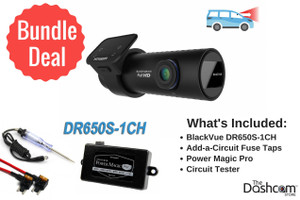 BlackVue DR650S-1CH Dash Cam DIY Bundle | Kit Includes Power Magic Pro, Circuit Tester and Fuse Taps | Install it Yourself!