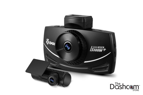 DOD Tech LS500W+ Full HD 1080p Front and Rear Dash Cam with GPS & WDR | Front and Rear Cameras Shown