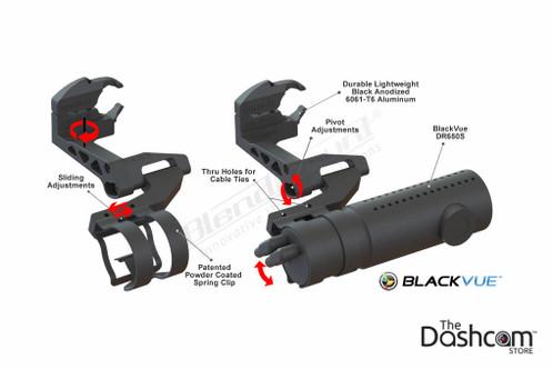BlendMount BlackVue Dashcam Mirror Stem Mount   Speciality Mount Component Diagram