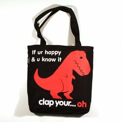 Sad T-Rex Reversible Tote Bag