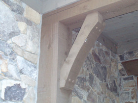 One piece western red cedar bracket