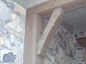 One piece western red cedar bracket