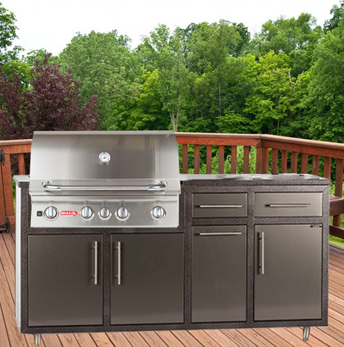 "32NS-P7 Outdoor Kitchen w/32"" Grill Cutout (Grill Sold Separately)"