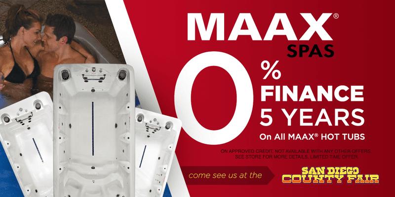 Maax Spas 0% Financing For  5 Years