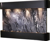 Adagio Sunrise Springs Black Spider Marble & Round Blackened Copper Frame Wall Fountain