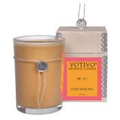 Votivo Pink Mimosa 16A Aromatic Glass Candle