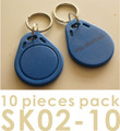Proximity Key Fob for AVEA's access control / time recorder system, 10 pieces per pack (HS Code: 85235200, MADE IN CHINA)
