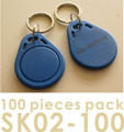 Proximity Key Fob for AVEA's access control / time recorder system, 100 pieces per pack (HS Code: 85235200, MADE IN CHINA)