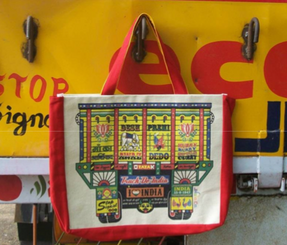Eco-Friendly Cotton Canvas Totes from Jhola Co with Indian truck image