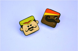 Moustache Dudes Magnetic clips (Set of 2)