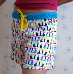 "Rickshaw ""tuk-tuk"" women's shorts (White/Blue/yellow)"