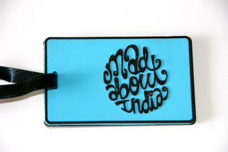 "Simply ""Mad about India"" Blue Luggage Tag (Chumbak-India)"