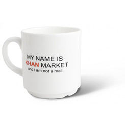 My Name is Khan Market Coffee Mug (Happily Unmarried)