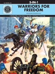 Warriors For Freedom (Amar Chitra Katha) (5 in 1 comics)