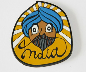 Chumbak: Sardar with blue turban fridge magnet