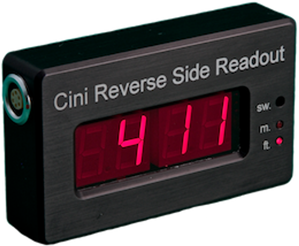 Reverse Side Readout for Cinitape(tm) Hardwired Display for your Cinitape(tm)  Cable to the other side of your camera or up to 50 feet away