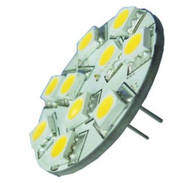 G4 LED Bulb, back pins, 12 volt - 24 Volt (10-30vdc), RED LEDs