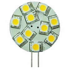 G4 LED Bulb, side pins, 12 volt - 24 Volt (10-30vdc), BLUE LEDs