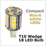 Compact Tower Wedge LED Bulb, 18 SMD