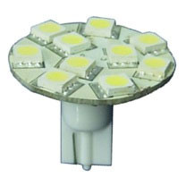 T10 Back Wedge LED Bulbs 10 SMD