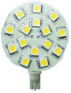 T10 Wedge Round PCB LED Bulbs 15 SMD