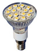 E14 Tapered Glass LED Bulb 15 SMD