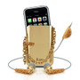 iLuv Crystal In-Ear Earphones & Holster for iPhone i80-GLD