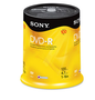 Sony 100-Pack 16x DVD-R 4.7GB 120 Min Spindle