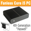 Fanless XBMC Media Centre PC Core i5 Haswell, 4GB, 64GB SSD, 1TB HDD [ASUS H81T]