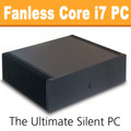Ultimate Fanless Mini-ITX PC, Core i7 Haswell, 8GB, 120GB SSD [ASUS Q87T]