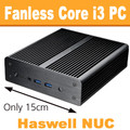 "Fanless Intel ""Haswell"" NUC Core i3 PC, 4GB DDR3, 60GB SSD [N3-NewtonH-4-60]"