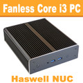 "Fanless Intel ""Haswell"" NUC Core i3 PC, 4GB DDR3, 60GB SSD [N3-NewtonX-4-60]"