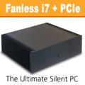 Ultimate Fanless PC, Core i7, Dual DVB-T2 Tuner, 8GB, 120GB SSD [ASUS Q87T]