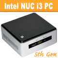 "Intel ""5th Gen Broadwell"" NUC Core i3 PC, 4GB DDR3, 120GB SSD, WiFi, Bluetooth [NUC5i3RYH-4-120]"