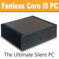 Ultimate Fanless Mini-ITX PC, Core i5 Haswell, 8GB, 120GB SSD [ASUS Q87T]